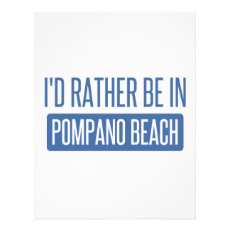 I'd rather be in Pompano Beach Letterhead