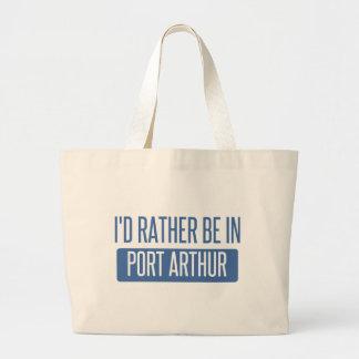 I'd rather be in Port Arthur Large Tote Bag