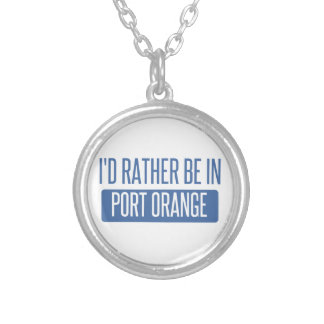 I'd rather be in Port Orange Silver Plated Necklace