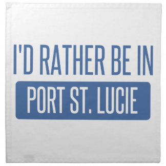 I'd rather be in Port St. Lucie Napkin
