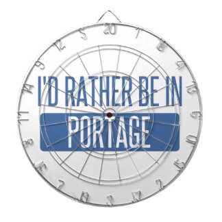 I'd rather be in Portage IN Dartboard