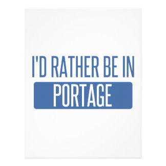 I'd rather be in Portage IN Letterhead