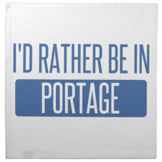 I'd rather be in Portage IN Napkin
