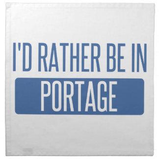 I'd rather be in Portage MI Napkin