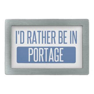 I'd rather be in Portage MI Rectangular Belt Buckles