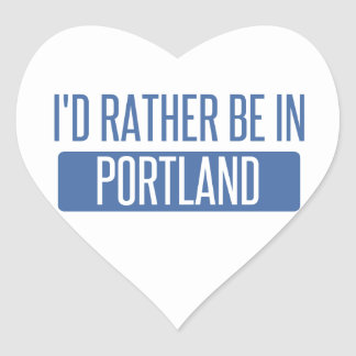 I'd rather be in Portland ME Heart Sticker
