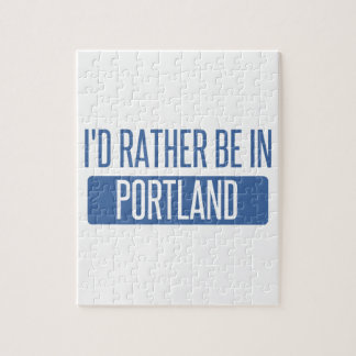 I'd rather be in Portland ME Jigsaw Puzzle
