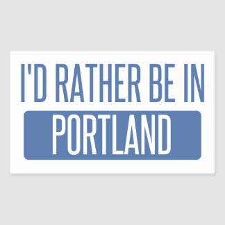 I'd rather be in Portland ME Sticker