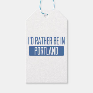 I'd rather be in Portland OR Gift Tags