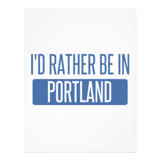 I'd rather be in Portland OR Personalized Letterhead