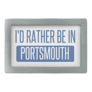 I'd rather be in Portsmouth Belt Buckle