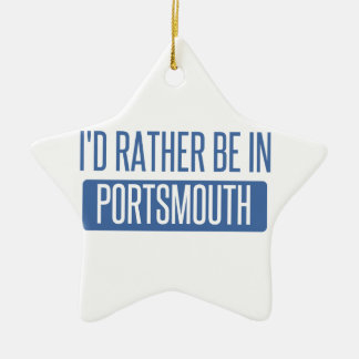 I'd rather be in Portsmouth Ceramic Ornament