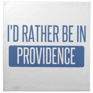 I'd rather be in Providence Napkin