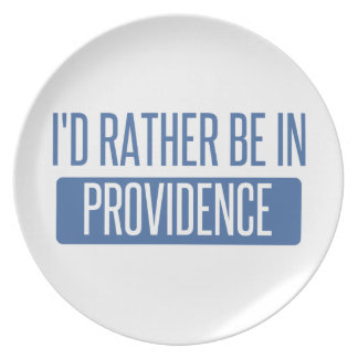 I'd rather be in Providence Plate