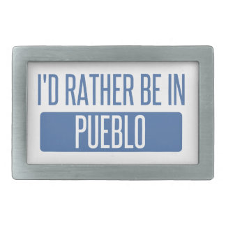 I'd rather be in Pueblo Rectangular Belt Buckle