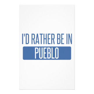 I'd rather be in Pueblo Stationery