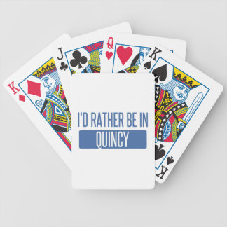 I'd rather be in Quincy MA Bicycle Playing Cards