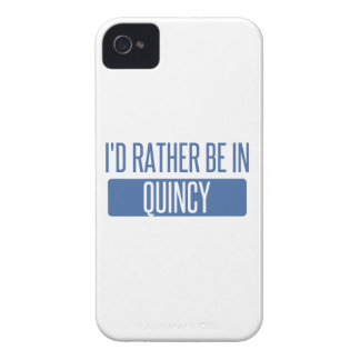 I'd rather be in Quincy MA iPhone 4 Case