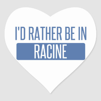 I'd rather be in Racine Heart Sticker