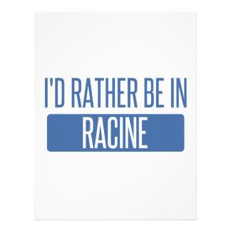 I'd rather be in Racine Letterhead
