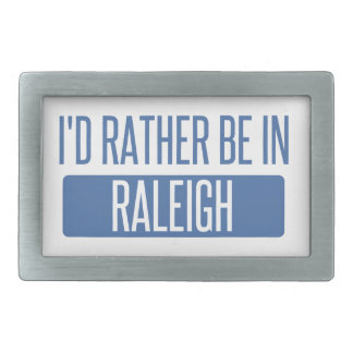 I'd rather be in Raleigh Rectangular Belt Buckle