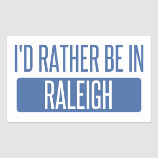 I'd rather be in Raleigh Sticker