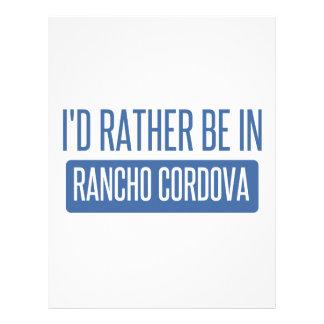 I'd rather be in Rancho Cordova Letterhead
