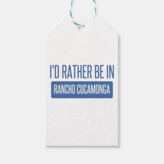 I'd rather be in Rancho Cucamonga Pack Of Gift Tags