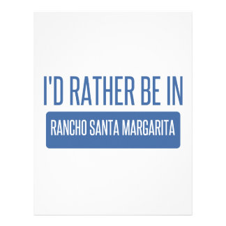 I'd rather be in Rancho Santa Margarita Letterhead Template