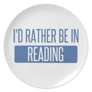 I'd rather be in Reading Plate