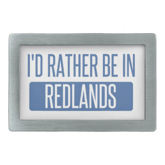 I'd rather be in Redlands Rectangular Belt Buckle
