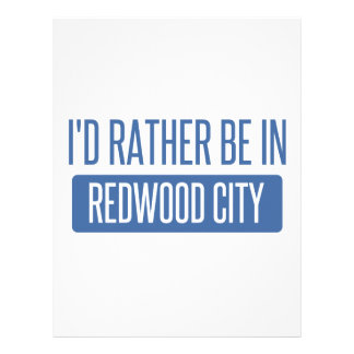 I'd rather be in Redwood City Letterhead
