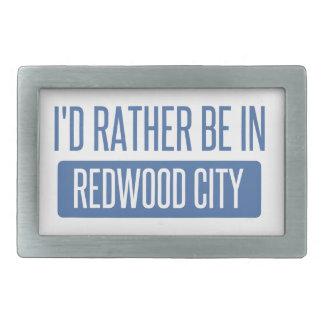 I'd rather be in Redwood City Rectangular Belt Buckles