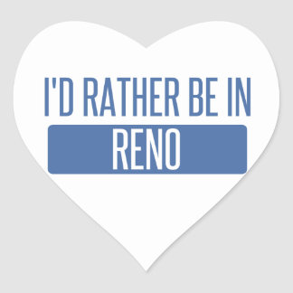 I'd rather be in Reno Heart Sticker
