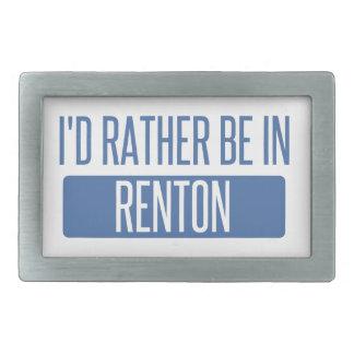 I'd rather be in Renton Rectangular Belt Buckles