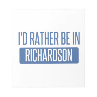 I'd rather be in Richland Notepad