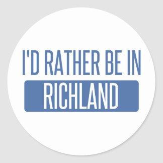 I'd rather be in Richmond CA Classic Round Sticker