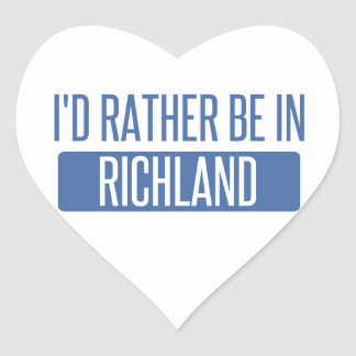 I'd rather be in Richmond CA Heart Sticker
