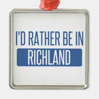 I'd rather be in Richmond CA Metal Ornament