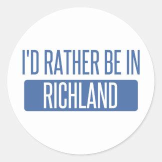 I'd rather be in Richmond CA Round Sticker