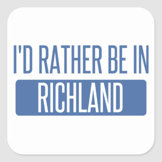 I'd rather be in Richmond CA Square Sticker
