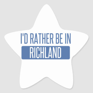 I'd rather be in Richmond CA Star Sticker