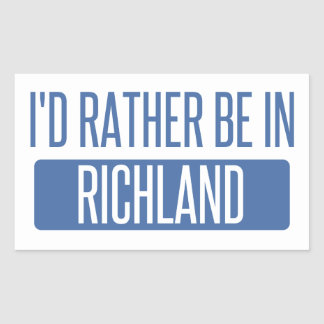 I'd rather be in Richmond CA Sticker