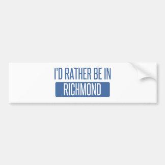 I'd rather be in Richmond IN Bumper Sticker