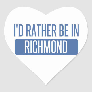 I'd rather be in Richmond IN Heart Sticker