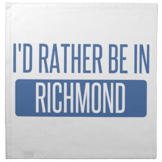 I'd rather be in Richmond IN Napkin