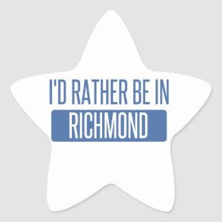 I'd rather be in Richmond IN Star Sticker