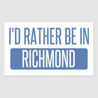 I'd rather be in Richmond IN Sticker