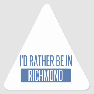 I'd rather be in Richmond IN Triangle Sticker