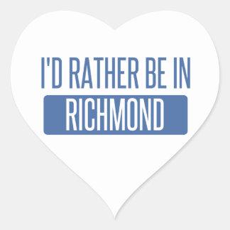 I'd rather be in Richmond VA Heart Sticker